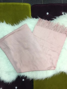 Plain Cashmere Pink Scarf