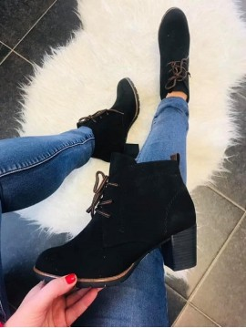MARCO TOZZI BLACK COMB ANKLE BOOT