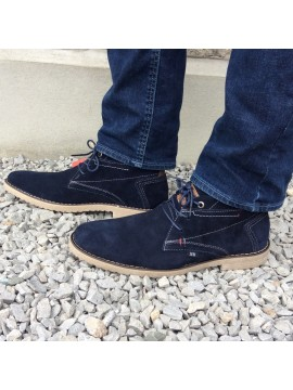 XTI MENS NAVY ANKLE BOOT